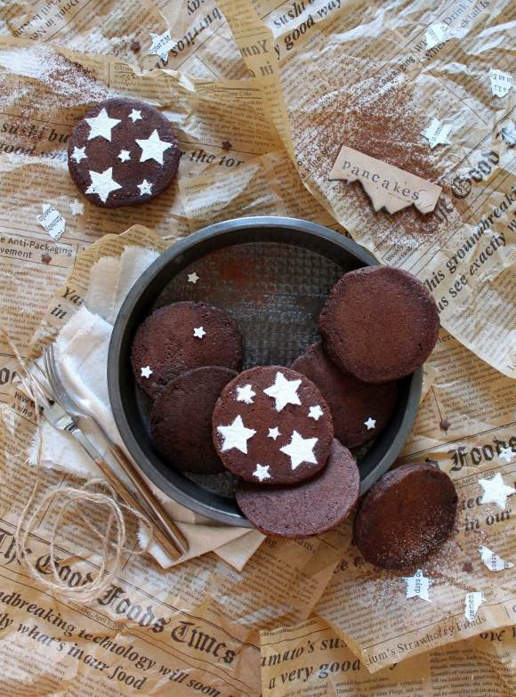 Pancakes al cacao e nocciole vegani