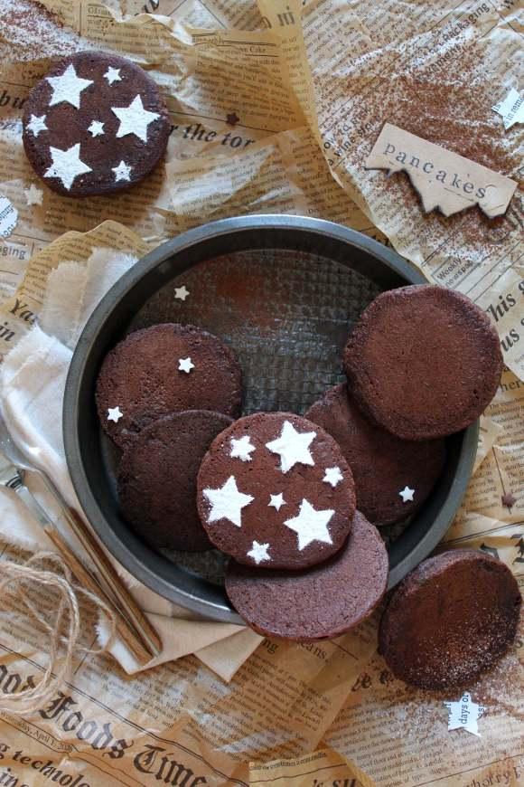 Pancakes al cacao e nocciole