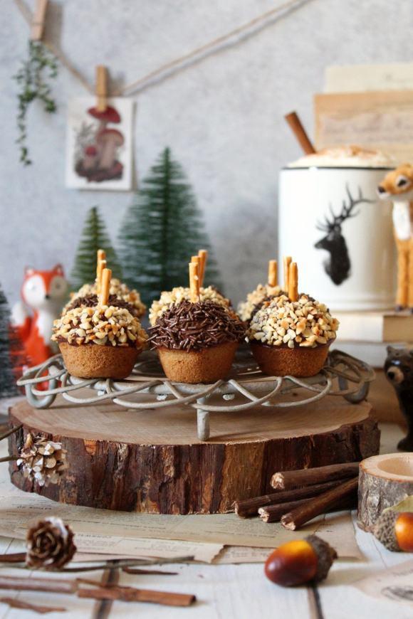 Mini Muffin Ghianda con cioccolato senza uova