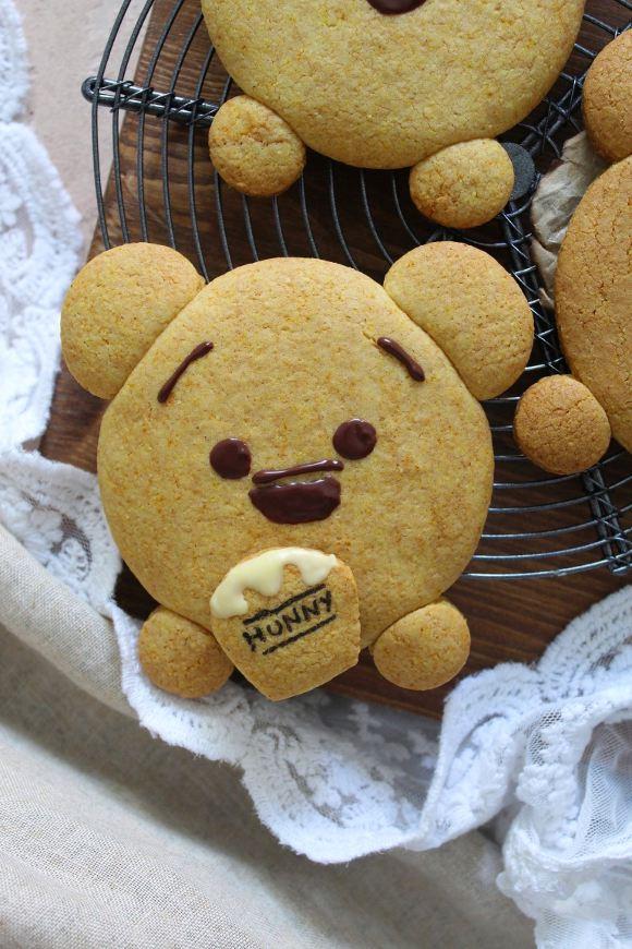 Winnie Pooh cookies senza uova senza burro
