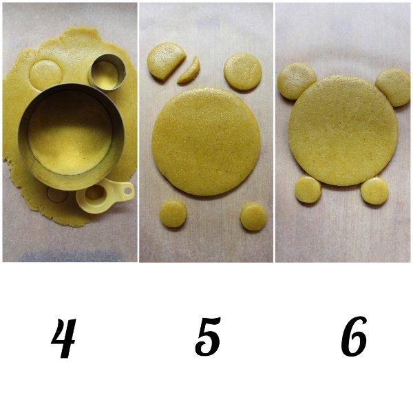 procedimento Biscotti con Farina di Mais Winnie Pooh senza uova senza burro