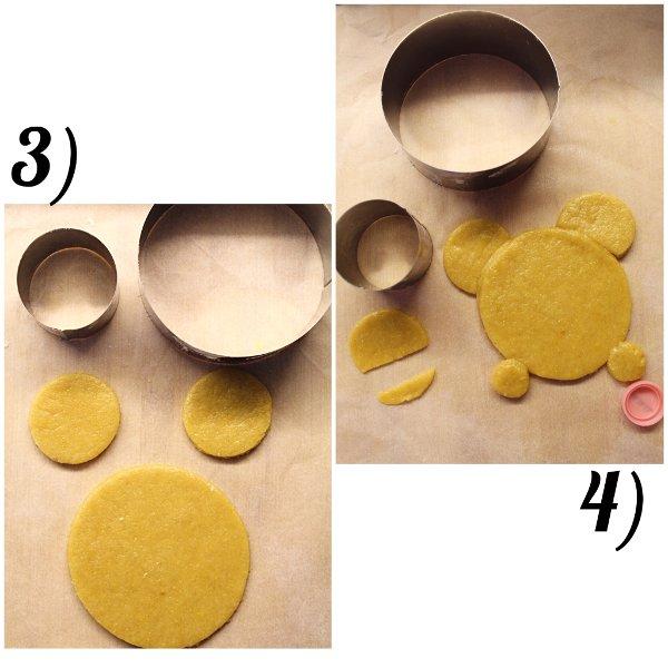 Biscotti con Farina di Mais Winnie Pooh senza uova senza burro procedimento