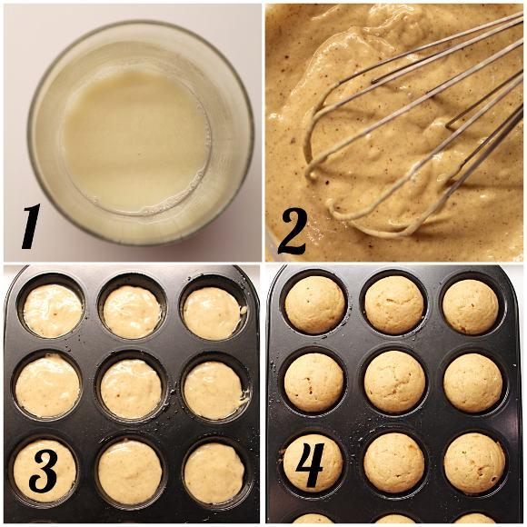 Mini Muffin Ghianda senza uova procedimento
