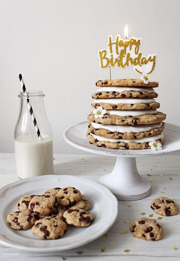 Torta Cookies senza uova senza burro con panna