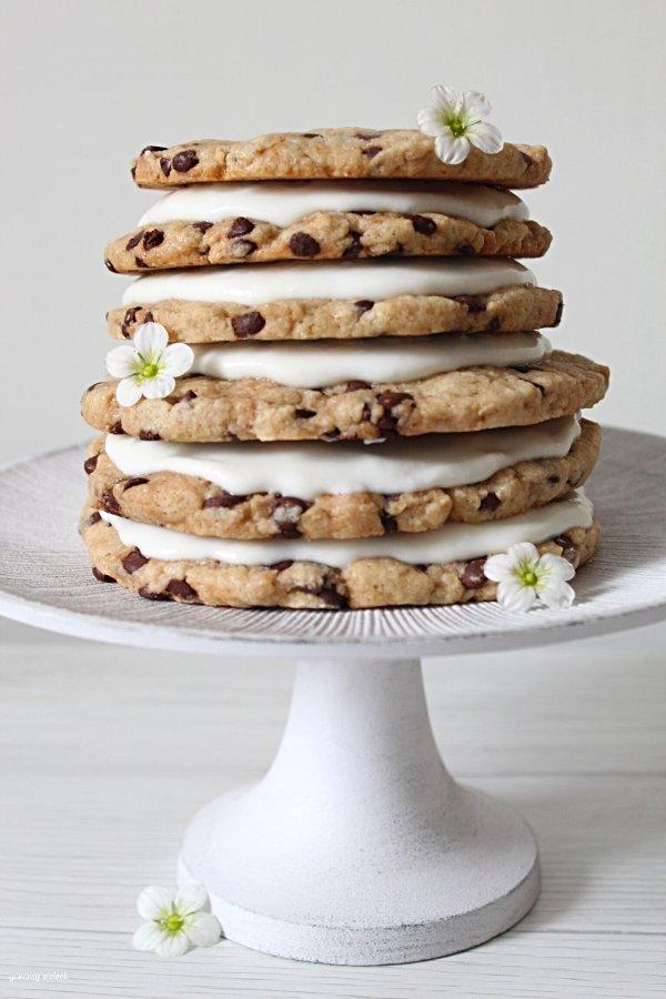 Torta Cookies senza uova senza burro con gocce di cioccolato