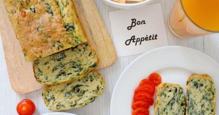 Plumcake Ricotta e Spinaci senza uova