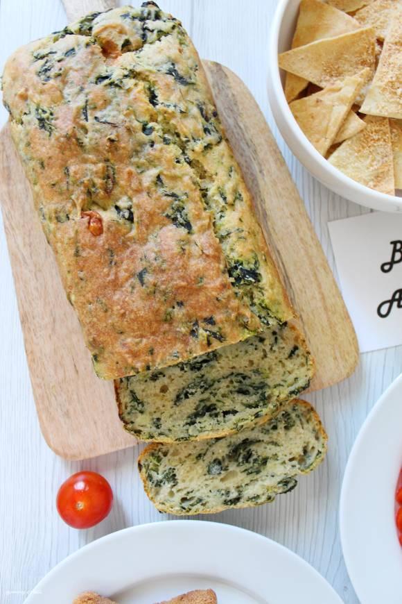 Plumcake Ricotta e Spinaci senza uova con formaggio
