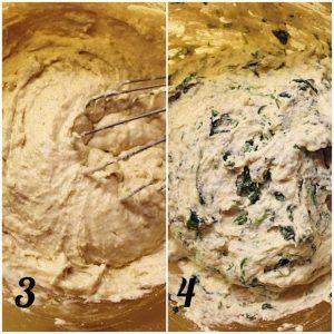 Plumcake Ricotta e Spinaci senza uova preparazione
