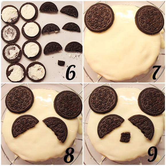 Biscotti Panda con mandorle e nocciole senza uova decorazione