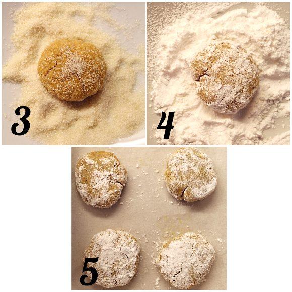 Biscotti Crinkles alla zucca senza uova senza lattosio preparazione