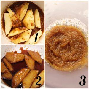 preparazione della salsa di mele