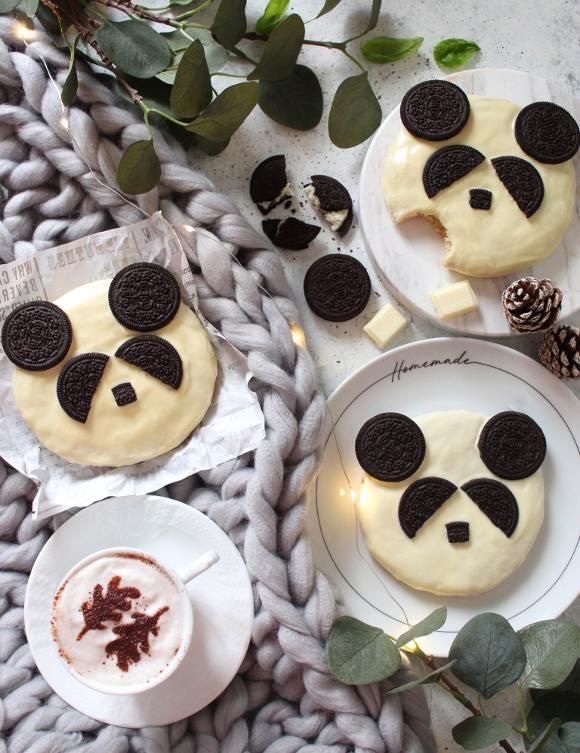 Biscotti Panda con mandorle e nocciole senza uova