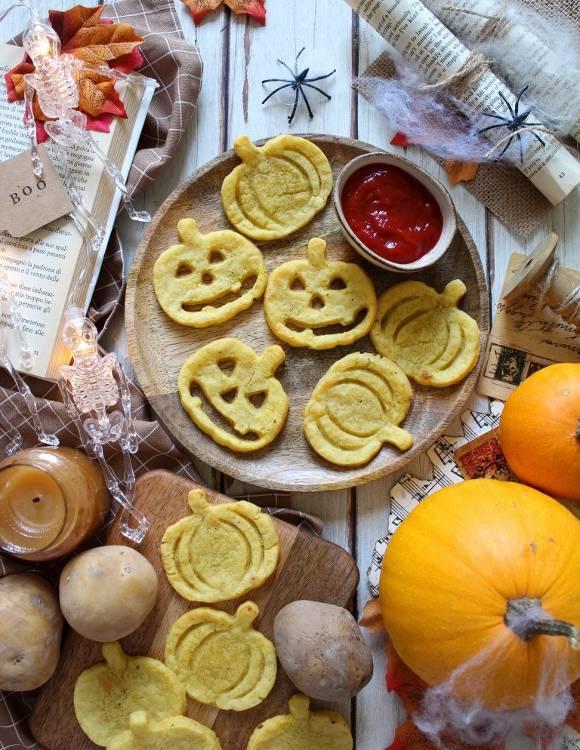 Faccine di Patate al forno a forma di Zucca