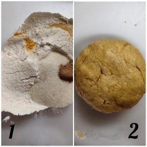 preparazione Biscotti Crinkles alla zucca senza uova