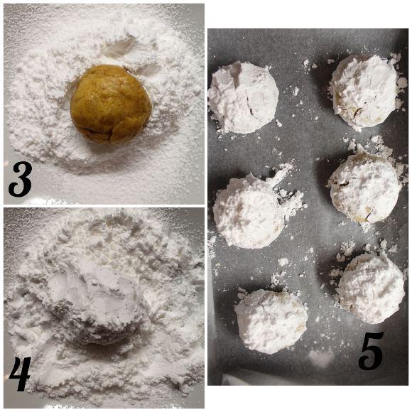 procedimento Biscotti Crinkles alla zucca senza uova