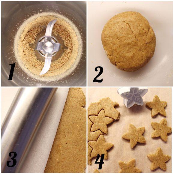 Biscotti a stella con crema di datteri vegan procedimento