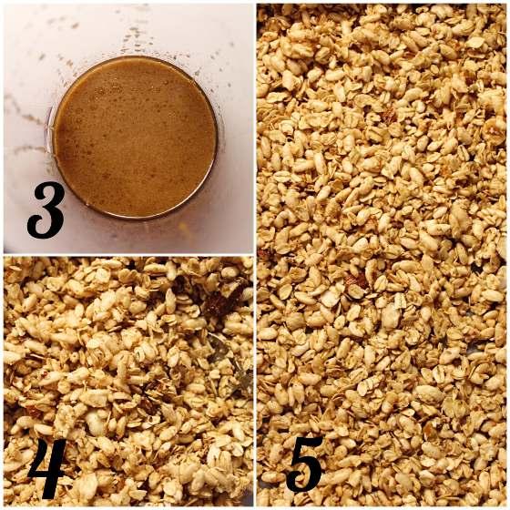 Granola fatta in casa preparazione