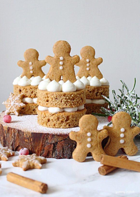Tortine di Pan di zenzero (Gingerbread) con crema di ricotta senza panna senza uova senza burro