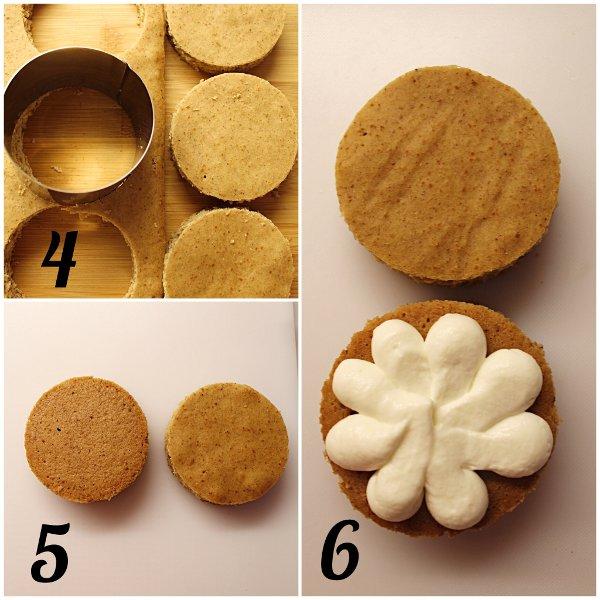 Tortine di pan di zenzero (Gingerbread) con crema di ricotta senza panna senza uova procedimento