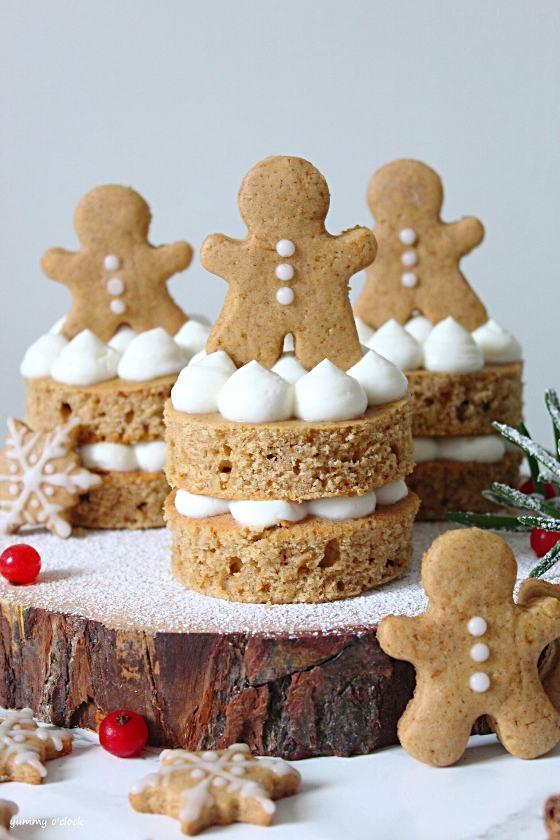 Tortine di pan di zenzero (Gingerbread) con crema di ricotta senza burro