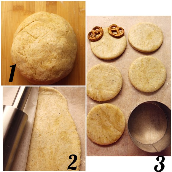 Biscotti Renna salati con Pasta brisée senza burro preparazione