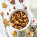 Cereali integrali di Natale zucca e crema di nocciole