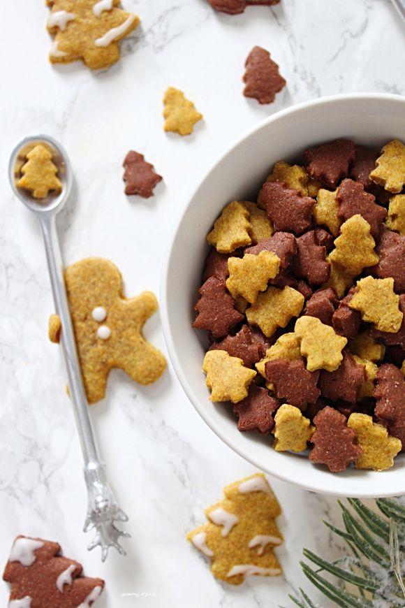 Cereali integrali di Natale crema di nocciole e zucca