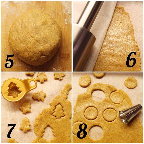 Cereali integrali di Natale zucca e crema di nocciole preparazione