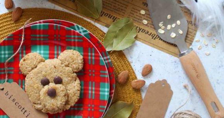 Biscotti Orsetto all'Avena senza uova senza burro