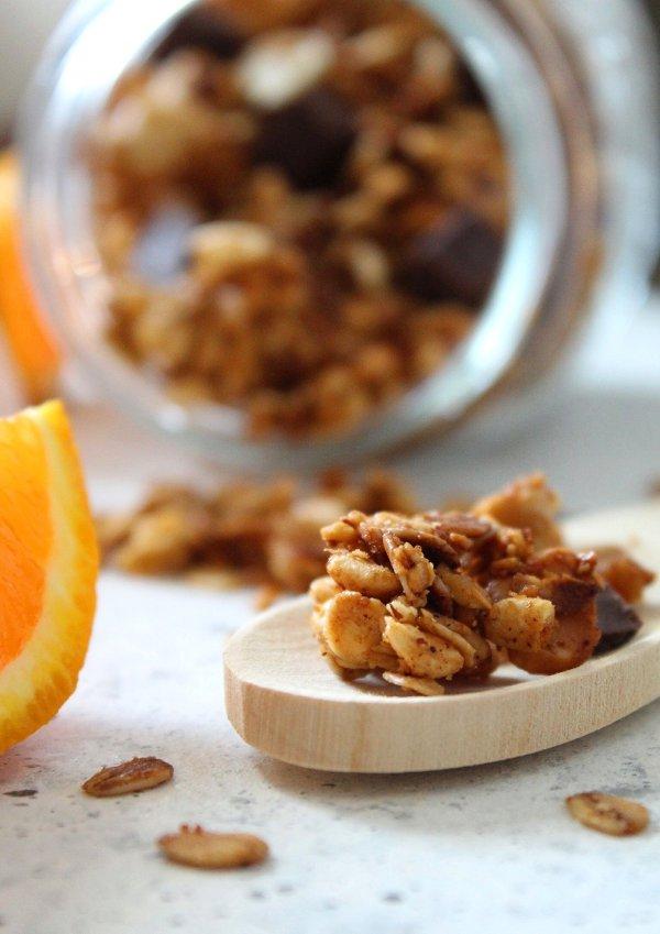 Granola homemade con miele fiocchi d'avena e frutta secca