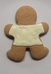 decorazione Biscotti Pan Di Zenzero con maglia di natale senza uova