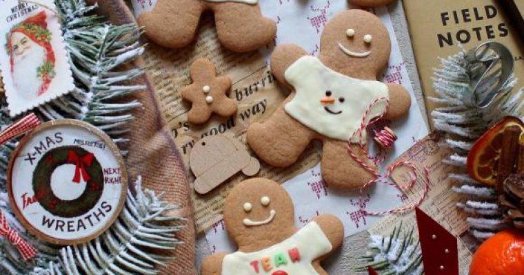 Biscotti Pan di Zenzero (Gingerbread) con maglia di natale senza uova Homemade