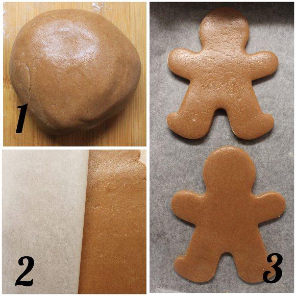 preparazione Biscotti Pan Di Zenzero con maglia di natale senza uova