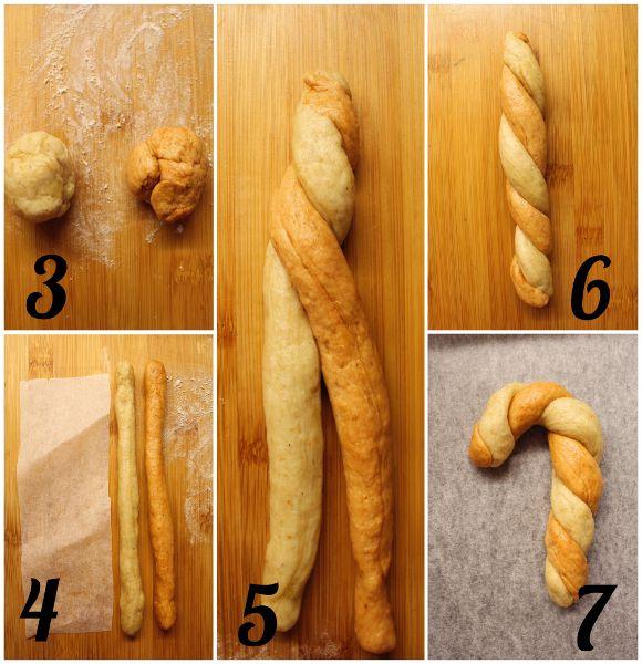 Biscotti Salati a forma di bastoncino di zucchero senza burro procedimento