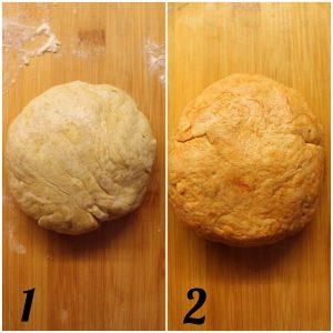 Biscotti Salati a forma di bastoncino di zucchero preparazione