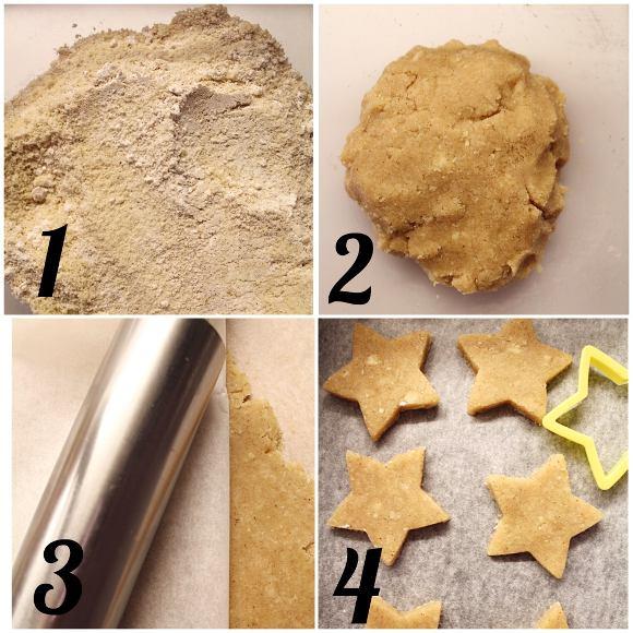 Biscotti con mandorle e cannella a forma di stella senza albumi Zimtsterne procedimento