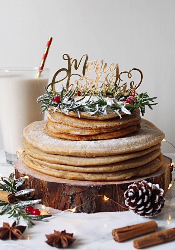 Torta Pancake di Natale senza lattosio senza uova vegan