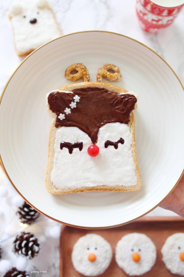3 idee veloci per la colazione del Natale Rudolph toast
