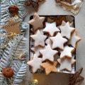 Biscotti con mandorle e cannella a forma di stella senza albumi Zimtsterne