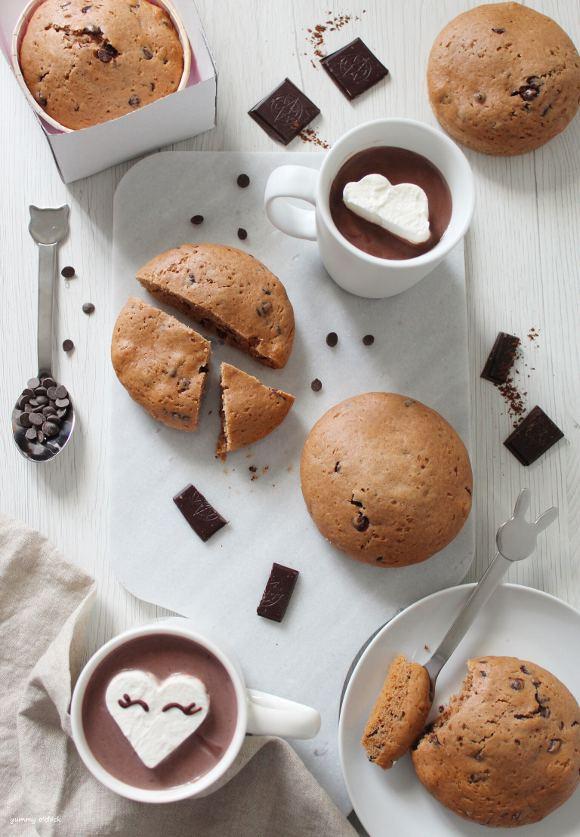 Tortini di farro al cioccolato simil merendine senza uova homemade