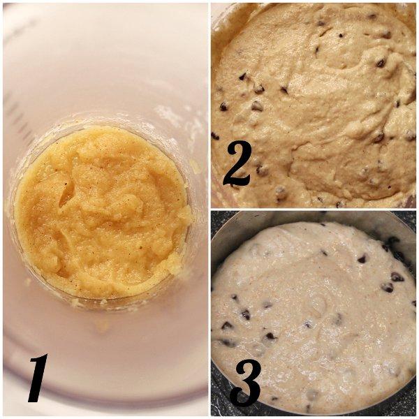 Pancakes con gocce di cioccolato e purea di mele senza lattosio procedimento