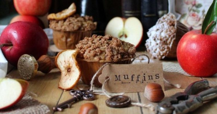 Muffins Crumble all'avena mela e cannella vegan