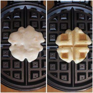 preparazione Mini Waffles senza glutine e vegan