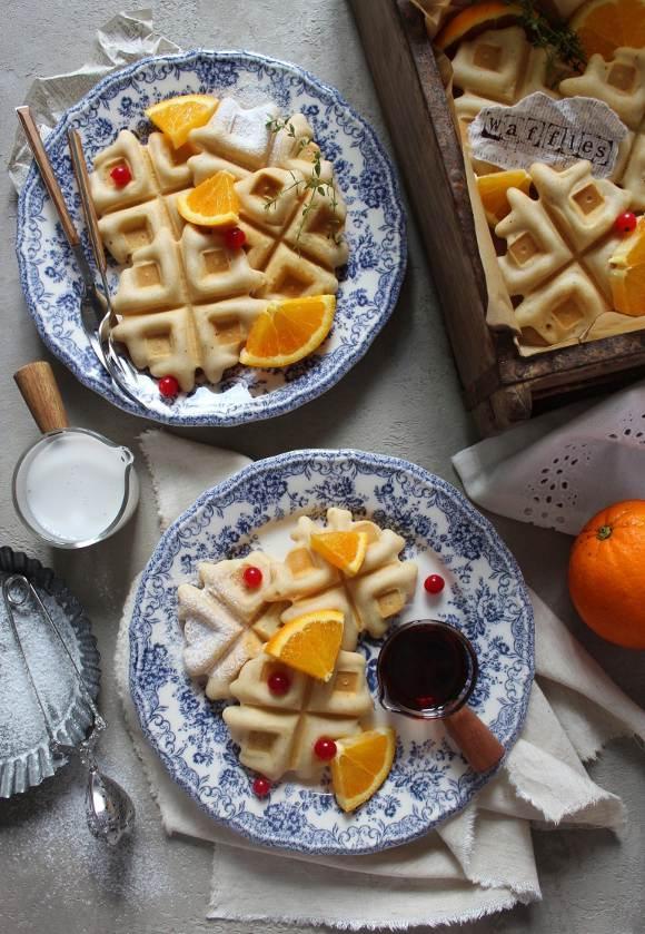 Mini Waffles all'arancia senza glutine e vegan