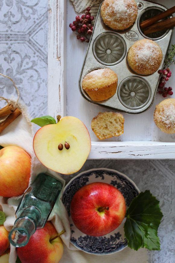 Pancake- muffins zucchero cannella e purea di mela vegan
