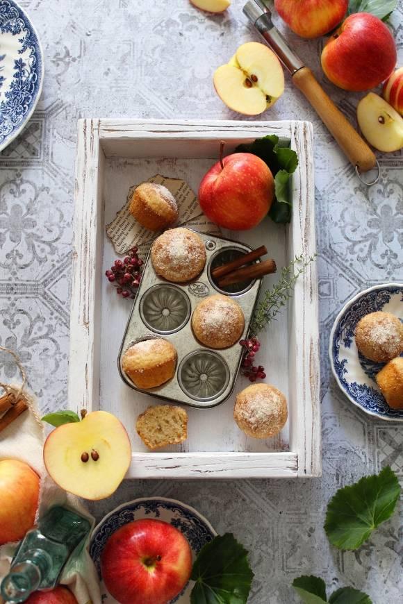 Pancake mini muffins zucchero cannella e purea di mela vegan