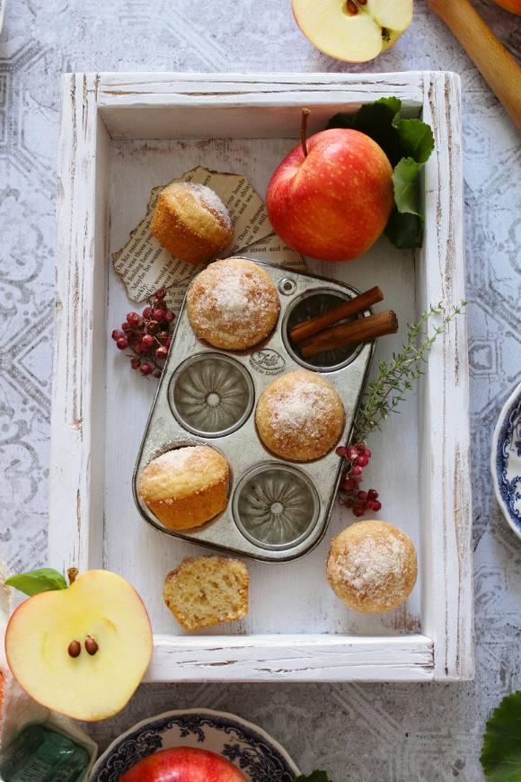 Pancake mini muffins zucchero cannella purea di mela