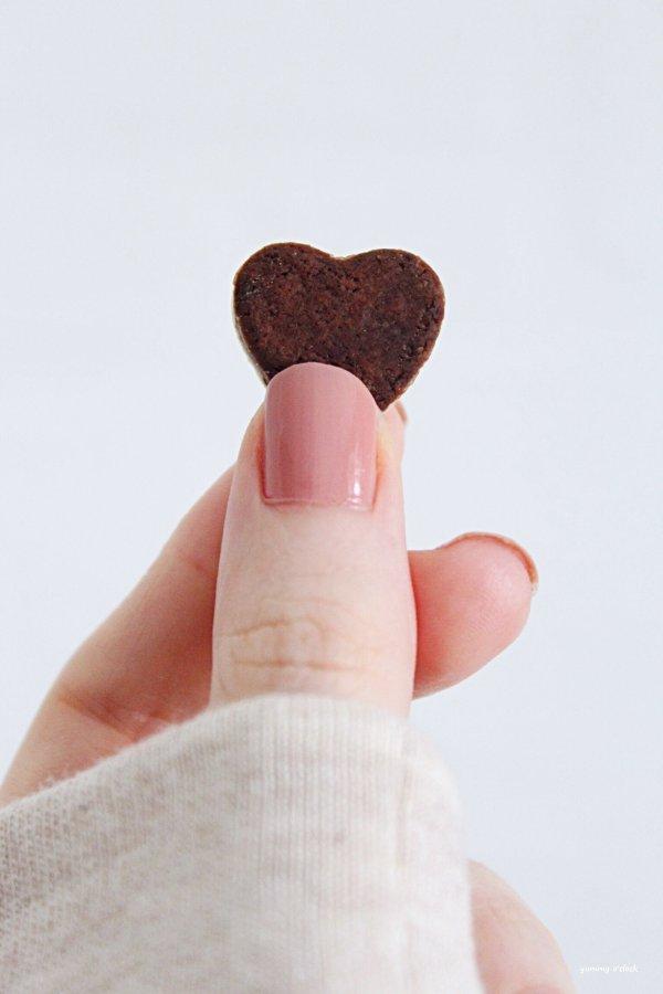 Cereale-biscotto bigusto a forma di cuore cacao e vaniglia