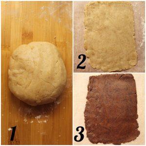 Cereali-biscotti bigusto a forma di cuore vaniglia e cacao morbidi preparazione