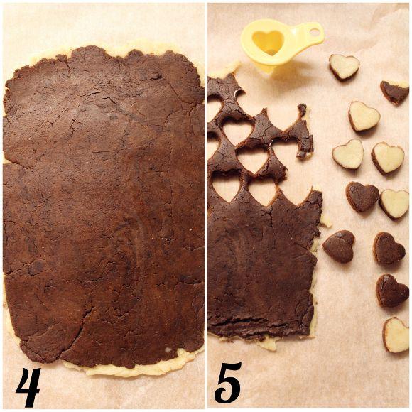 Cereali-biscotti bigusto a forma di cuore vaniglia e cacao morbidi procedimento